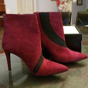 Nine West Fifer Red 8M High Heels Booties